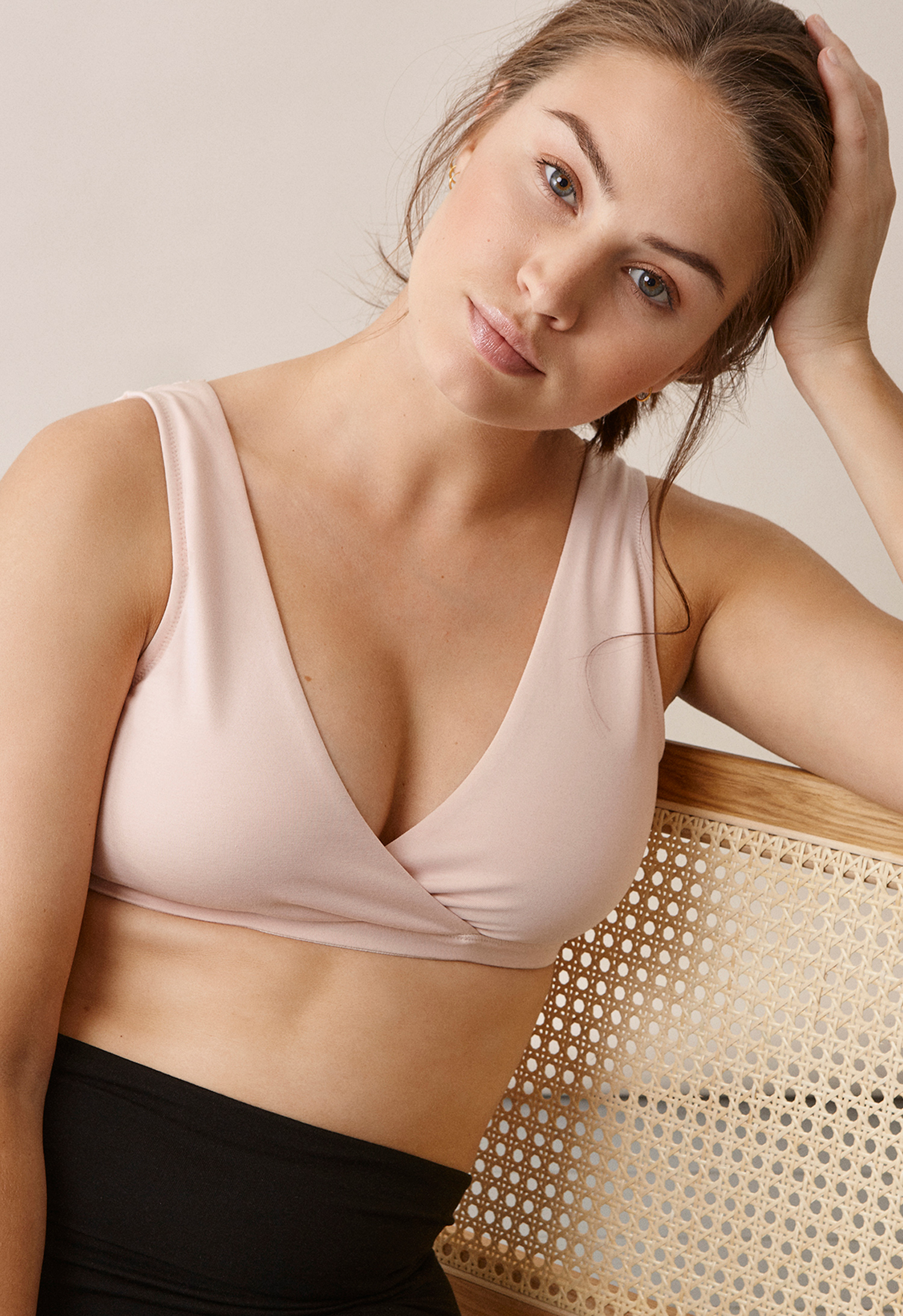 24/7 bra, soft pink M (7) - Maternity nightwear / Nursing nightwear