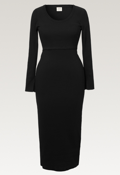 Signe dress - Black - S (7) - Maternity dress / Nursing dress