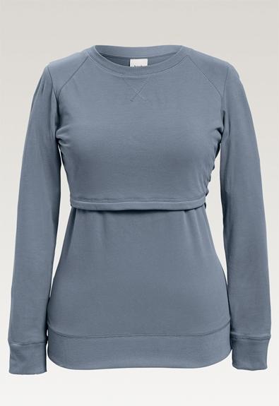 B Warmer sweatshirt - Blue ash - L (4) - Gravidtopp / Amningstopp