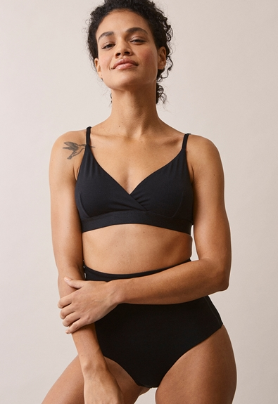 24/7 triangle bra - Black - S (1) - Maternity underwear / Nursing underwear