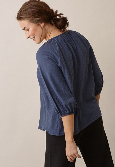 Air blouse - Thunder blue - S (2) - Maternity top / Nursing top