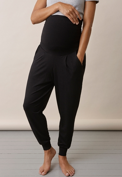 Once-on-never-off easy pants - Black - L (3) - Maternity pants