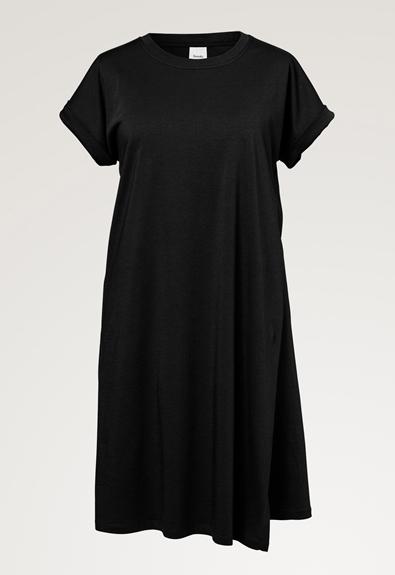 The-shirt Kleid - Schwarz - S (4) - Umstandskleid / Stillkleid