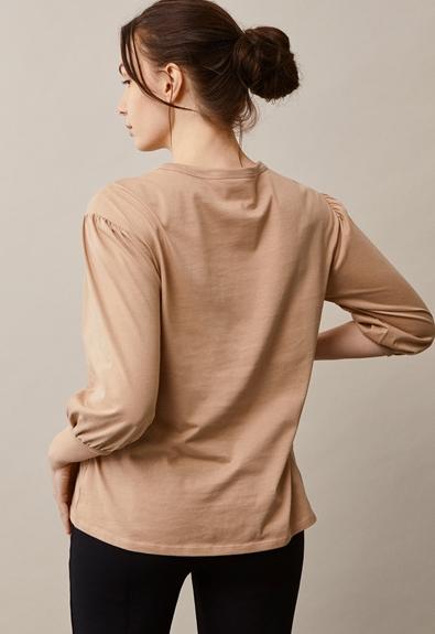 The-shirt blouse - Sand - XL (4) - Maternity top / Nursing top