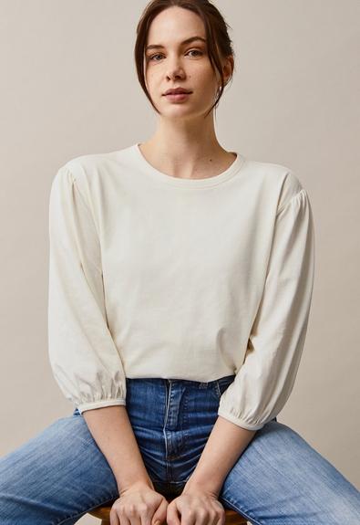 The-shirt blouse - Tofu - M (2) - Maternity top / Nursing top