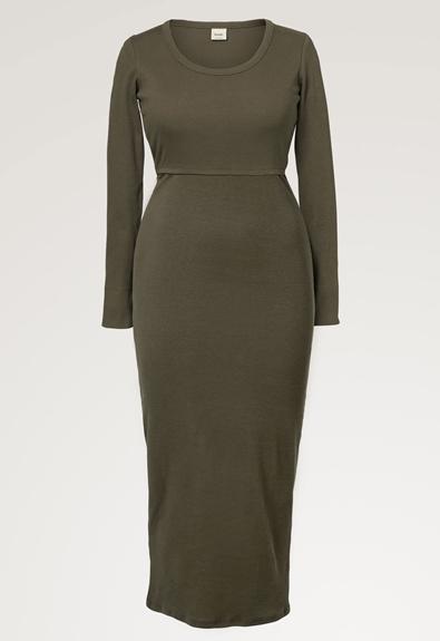 Signe Kleid - Pine green - S (6) - Umstandskleid / Stillkleid
