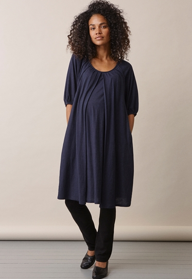 Air short-sleeved dress - Midnight blue - L (1) - Maternity dress / Nursing dress
