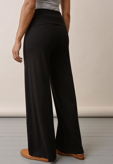 Once-on-never-off wide pants, Svart M (5) - Gravidbyxor