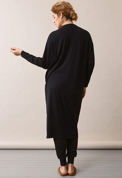 Debbie dress - Black - L/XL (3) - Maternity dress / Nursing dress
