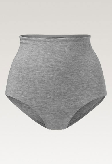Soft support brief - Grey melange - XL (4) - Maternity underwear / Nursing underwear