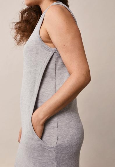 BFF klänning - Grey melange - S (4) - Gravidklänning / Amningsklänning