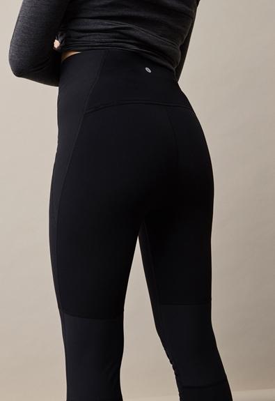 Once-on-never-off fleeceleggings - Black - S (3) - Maternity pants