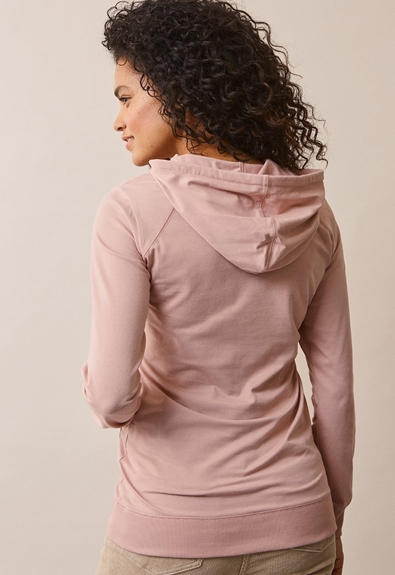B Warmer hoodie - Mauve - S (3) - Maternity top / Nursing top