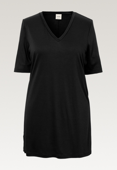 The-shirt tunic - Black - S (7) - Maternity top / Nursing top