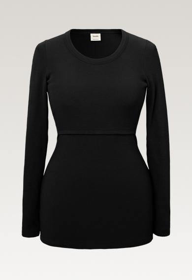 Signe long-sleeved top - Black - S (7) - Maternity top / Nursing top