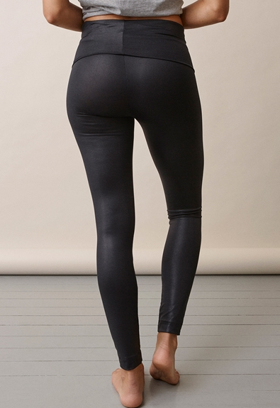 Once-on-never-off glam leggings - Black - L (4) - Maternity pants