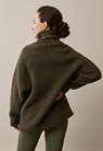 Fleecepullover aus Wolle - Pine green - S/M - small (2)