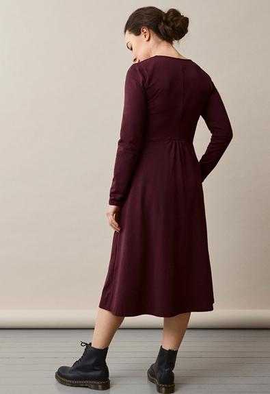 Charlotte dress - Eggplant - XL (2) - Maternity dress / Nursing dress
