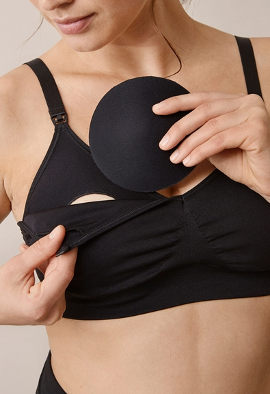 Fast Food T-shirt bra , Black M (4) - Maternity underwear / Nursing underwear