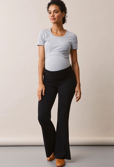 Once-on-never-off flared pants - Black - L (2) - Maternity pants