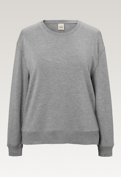 The sweatshirt - Grey melange - M (7) - Gravidtopp / Amningstopp