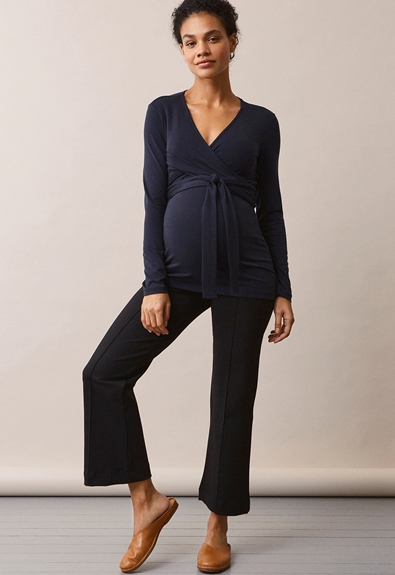 Giselle wrap top - Midnight blue - M (2) - Maternity top / Nursing top