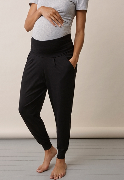 Once-on-never-off easy pants - Black - L (4) - Maternity pants