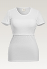 Classic short-sleeved top - White - L - small (6)