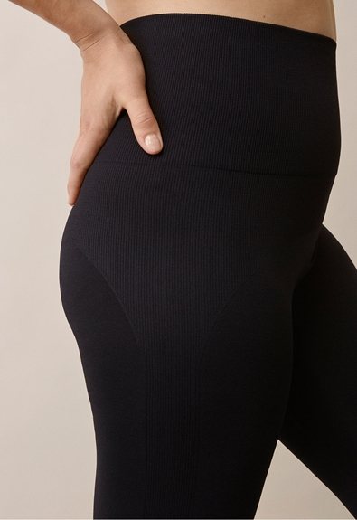 Soft support leggings - Black - S/M (4) - Maternity pants