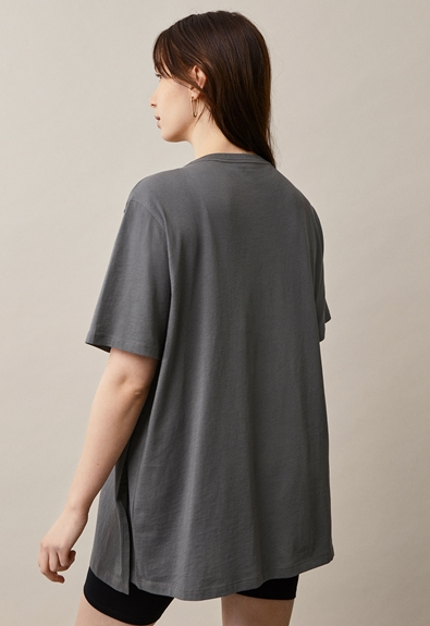 Oversized The-shirt - Willow green - M/L (2) - Maternity top / Nursing top