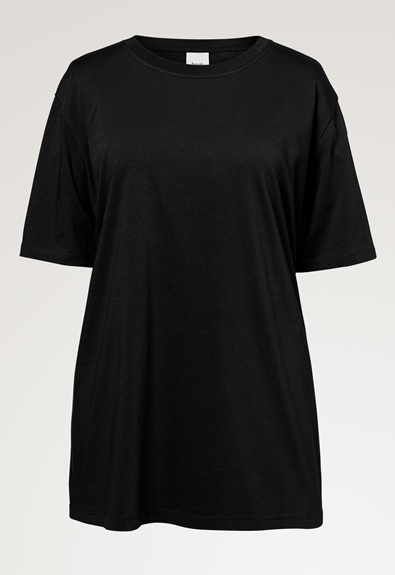 Oversized The-shirt - Black - M/L (4) - Maternity top / Nursing top