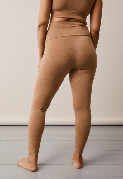 Once-on-never-off Merino wool leggings - Brown melange - L (3) - Maternity pants