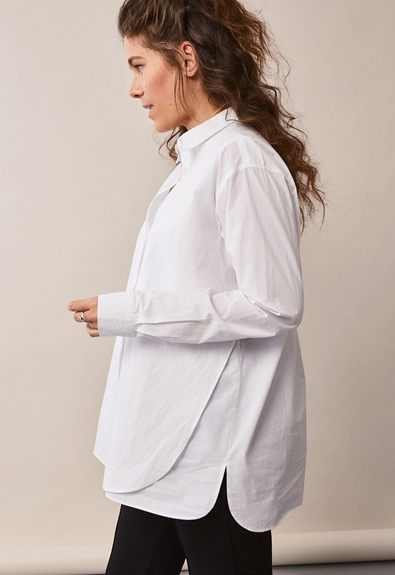 The Duo Bluse - Weiß - M/L (3) - Umstandsshirt / Stillshirt