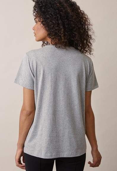 The-shirt - Grey melange - XS (3) - Maternity top / Nursing top