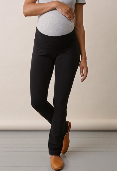 Once-on-never-off straight leg pants - Black - S (2) - Maternity pants