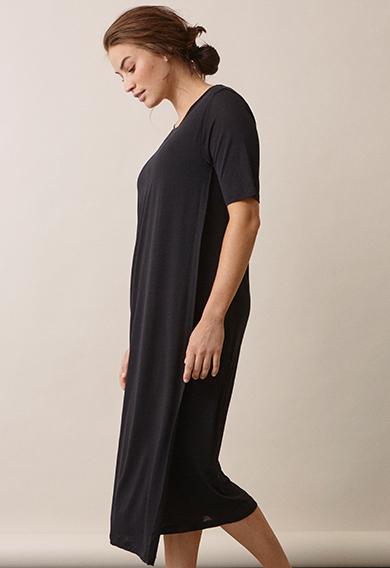 The-shirt dressblack (2) - Gravidklänning / Amningsklänning