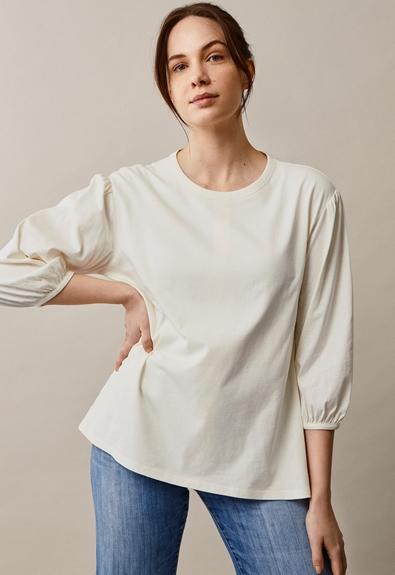 The-shirt blouse - Tofu - M (3) - Maternity top / Nursing top