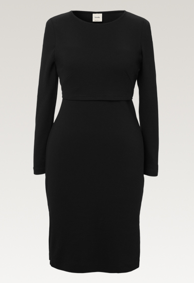 Ines dress - Black - XL (6) - Maternity dress / Nursing dress