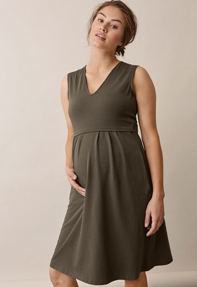 Tilda Kleid - Pine green - M (3) - Umstandskleid / Stillkleid