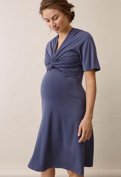 La La dressthunder blue (2) - Maternity dress / Nursing dress