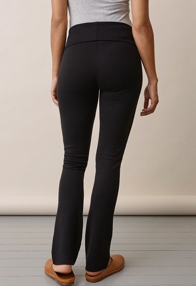 Once-on-never-off straight leg pants - Black - S (5) - Maternity pants