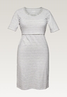 Night dress, white/grey melange XS - small (5)