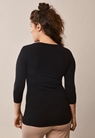 Easy top with ¾ sleeves - Black - M - small (3)