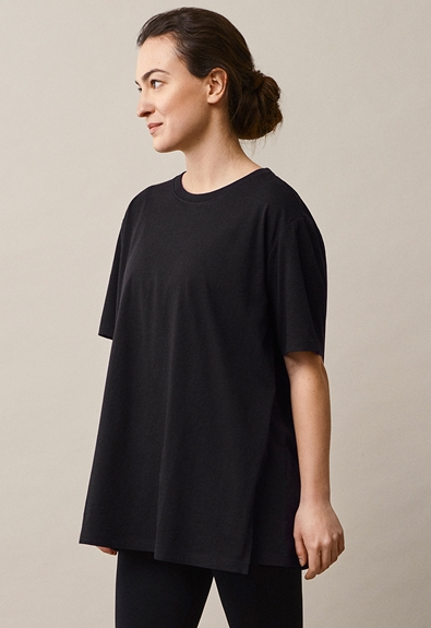 Oversized The-shirt - Black - M/L (1) - Maternity top / Nursing top