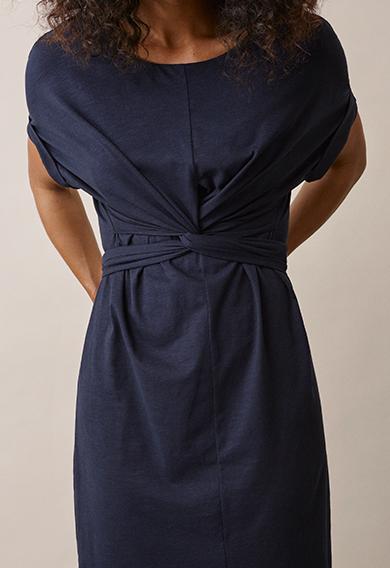 Zadie s/s dressmidnight blue (7) - Gravidklänning / Amningsklänning