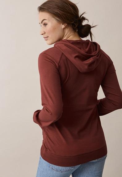 B Warmer hoodie - Cayenne - XL (3) - Maternity top / Nursing top