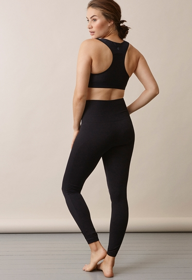 Soft support leggings - Black - S/M (3) - Maternity pants