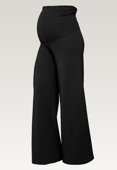 Once-on-never-off wide pants, Svart M (6) - Gravidbyxor