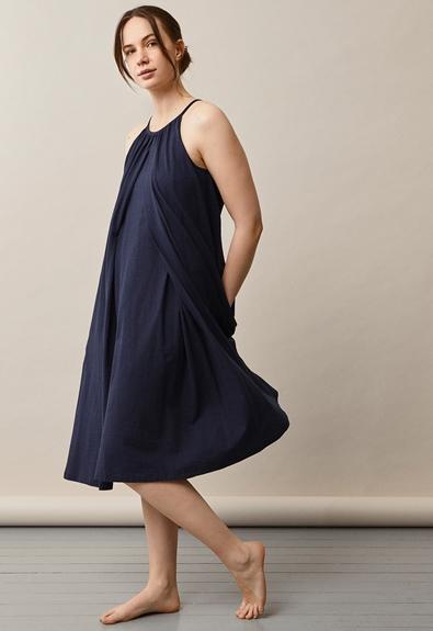 Air halterneck midiklänning - Midnight blue - One size (2) - Gravidklänning / Amningsklänning