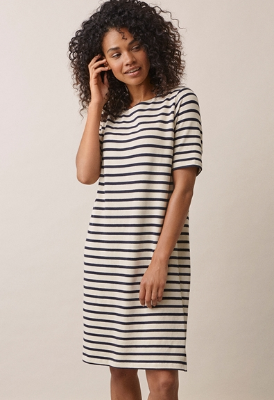 Breton Kleid - Tofu/Midnight blue - S (2) - Umstandskleid / Stillkleid